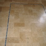 Travertine w/ Glass Inlay