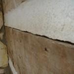 Large crack before restoration.