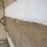Crack sealed after restoration.