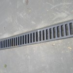 Trench Drain with Heavy Duty Metal Grate to catch any rain water