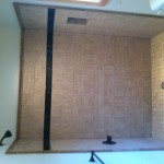 New Tile Shower in place of the old fiberglass tub/shower