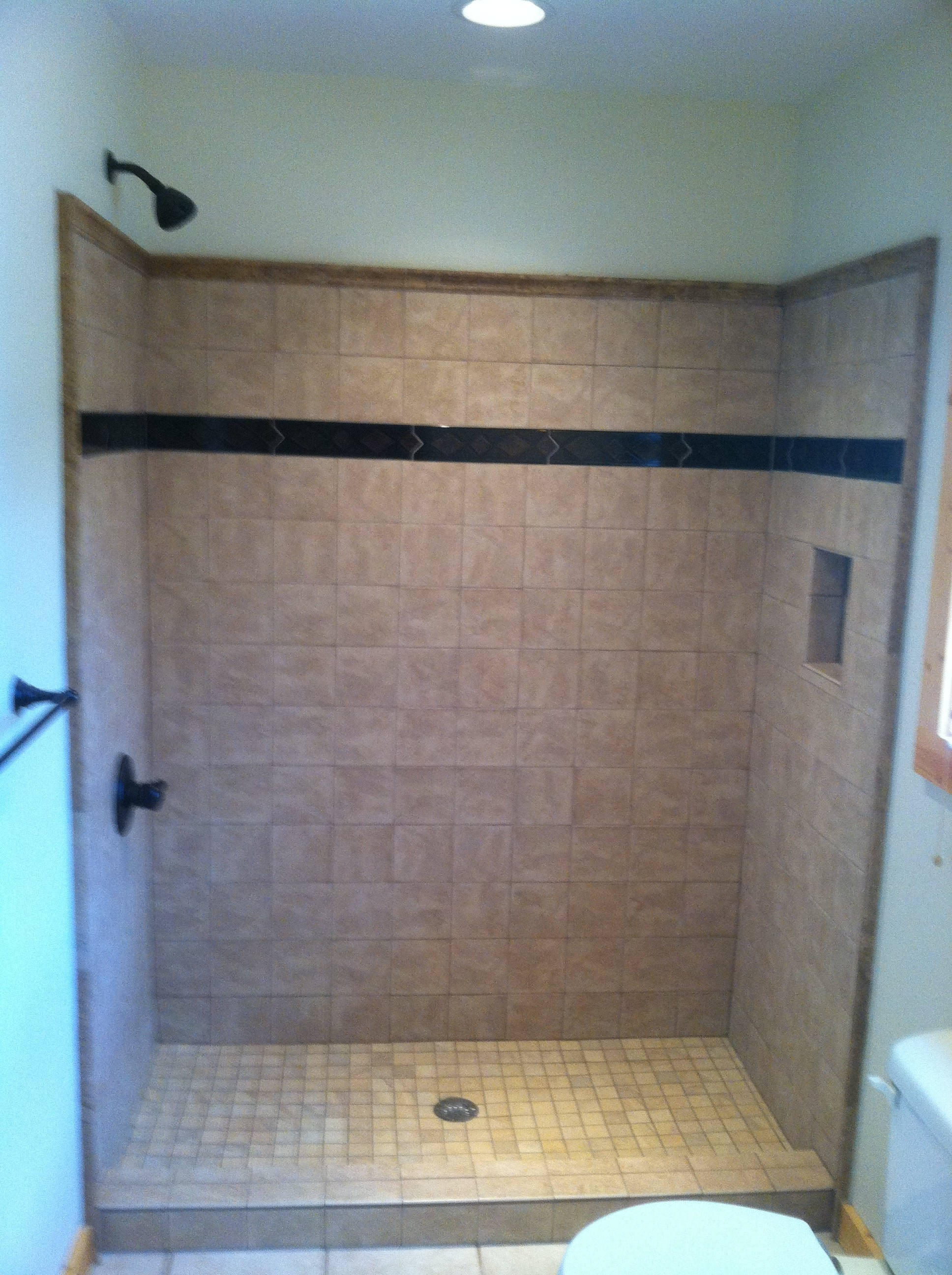 Tile Shower installation in Ellijay GA- Blueridge, Blairesville,and North GA areas